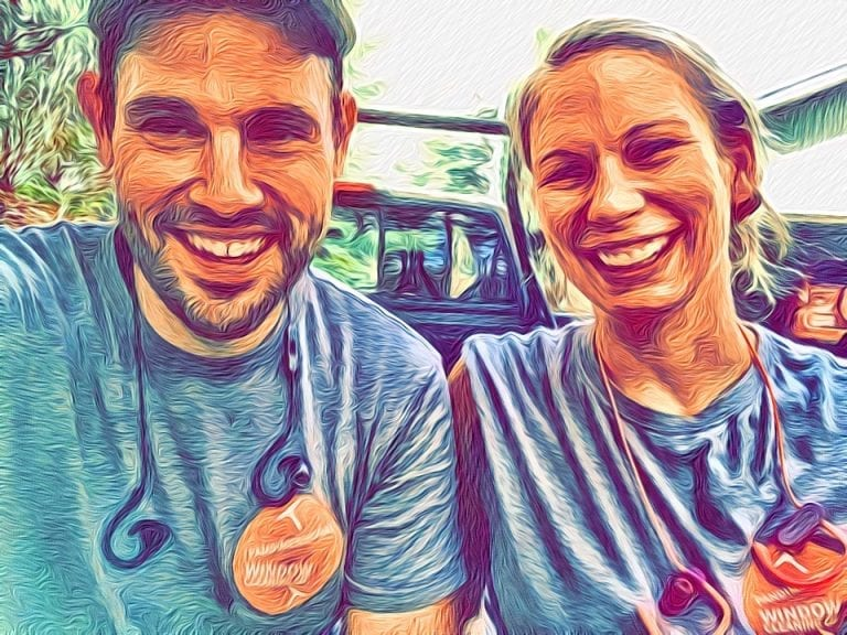 Picture of a man and woman smiling